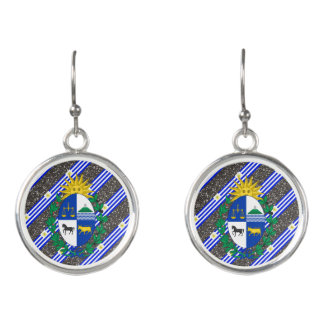Uruguayan stripes flag earrings