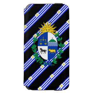 Uruguayan stripes flag incipio watson™ iPhone 6 wallet case