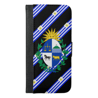 Uruguayan stripes flag iPhone 6/6s plus wallet case