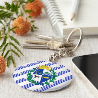 Uruguayan stripes flag key ring