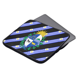 Uruguayan stripes flag laptop sleeve