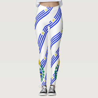 Uruguayan stripes flag leggings