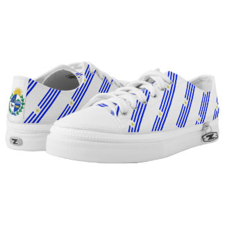Uruguayan stripes flag low tops