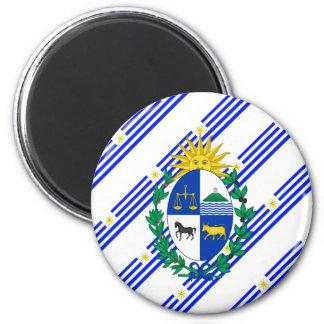 Uruguayan stripes flag magnet