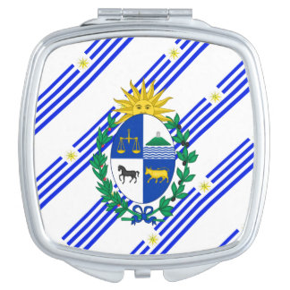 Uruguayan stripes flag mirrors for makeup