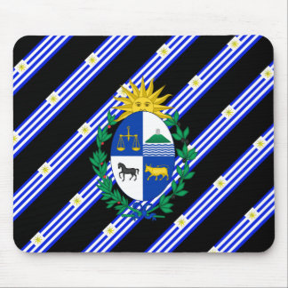 Uruguayan stripes flag mouse pad