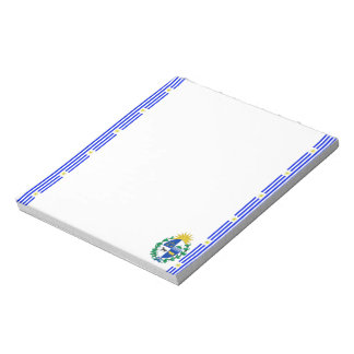 Uruguayan stripes flag notepad