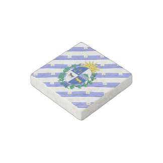 Uruguayan stripes flag stone magnet