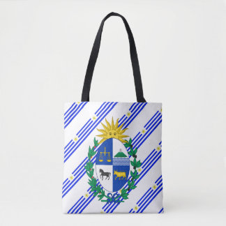 Uruguayan stripes flag tote bag