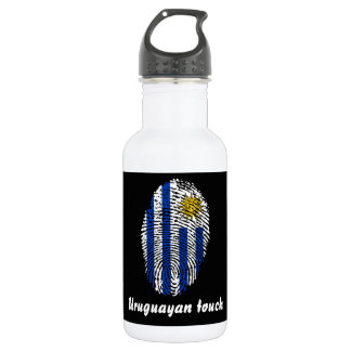Uruguayan touch fingerprint flag 532 ml water bottle