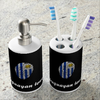 Uruguayan touch fingerprint flag bathroom sets