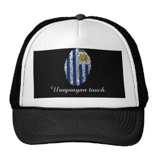 Uruguayan touch fingerprint flag cap