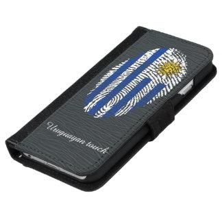 Uruguayan touch fingerprint flag iPhone 6 wallet case