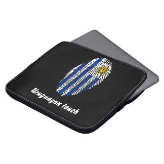 Uruguayan touch fingerprint flag laptop sleeve