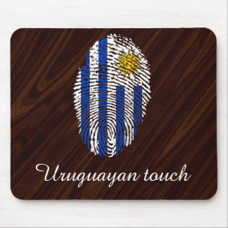 Uruguayan touch fingerprint flag mouse pad