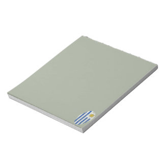 Uruguayan touch fingerprint flag notepads