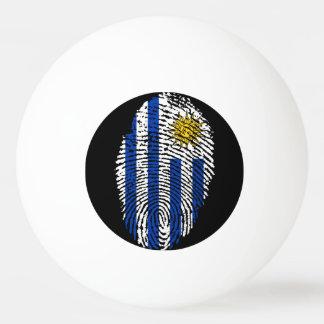 Uruguayan touch fingerprint flag ping pong ball