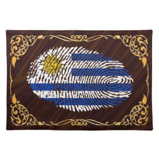 Uruguayan touch fingerprint flag placemats