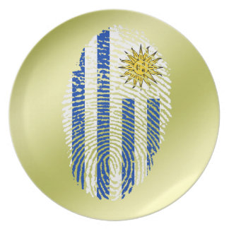 Uruguayan touch fingerprint flag plate