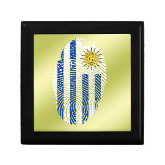 Uruguayan touch fingerprint flag small square gift box