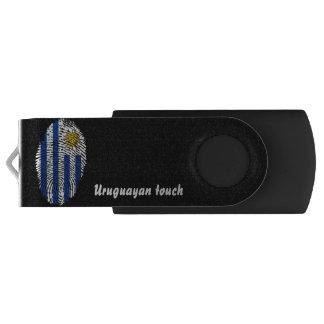 Uruguayan touch fingerprint flag swivel USB 3.0 flash drive