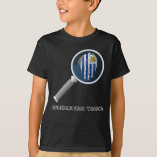 Uruguayan touch fingerprint flag T-Shirt