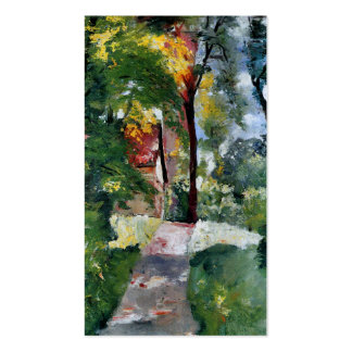 Ury impressionist painting morning sun landscape business cards