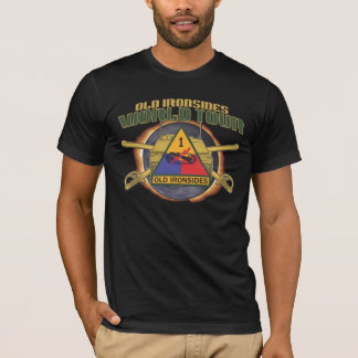"US 1ST ARMOR DIVISION ""OLD IRONSIDES"" WORLD TOUR A T-Shirt"