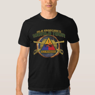 """US 1ST ARMOR DIVISION """"OLD IRONSIDES"""" WORLD TOUR A TEE SHIRT"""