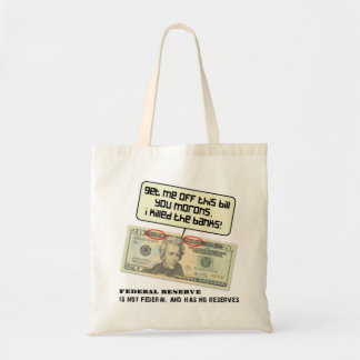 US 20 dollar bill Federal Reserve Budget Tote Bag