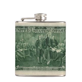 US 2 Dollar Bill Hip Flask