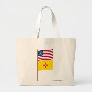 US 48-star Whipple flag on pole with New Mexico Bag