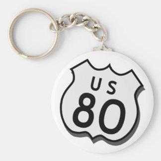 US 80 Key Fob Basic Round Button Key Ring