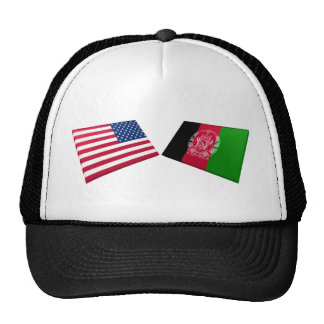 US & Afghanistan Flags Mesh Hats