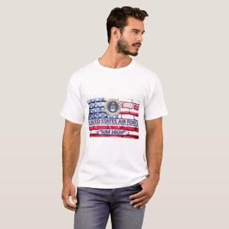 US Air Force Aim High Motto Flag T-Shirt