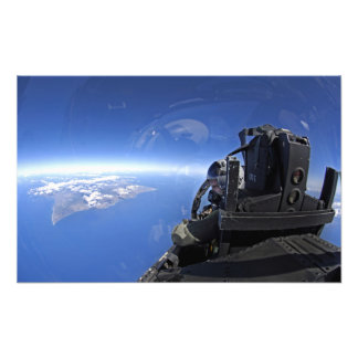 US Air Force captain looks out over the sky Photo Art