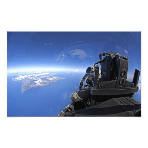 US Air Force captain looks out over the sky Photographic Print