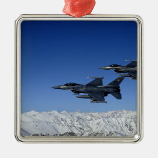 US Air Force F-16 Fighting Falcons Metal Ornament