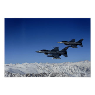 US Air Force F-16 Fighting Falcons Poster