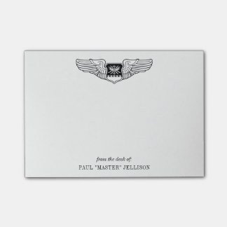 US Air Force Nav WSO Wings with Custom Name Text Post-it® Notes