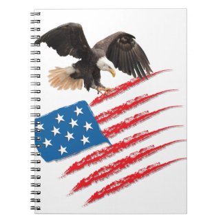 US America Flag Spiral Notebook