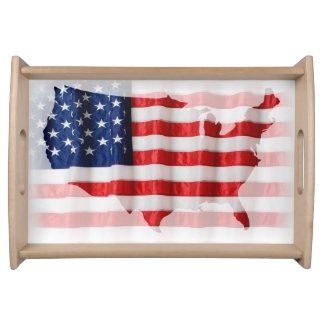 US/American Flag Serving Tray