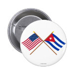 US and Cuba Crossed Flags Pin