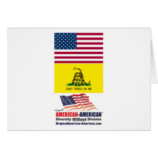 US and Gadsden Flag : American-American Movement Greeting Card
