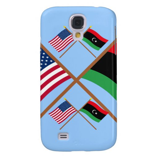 US and Libya Crossed Flags Galaxy S4 Covers