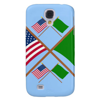 US and Libya Crossed Flags Galaxy S4 Cases