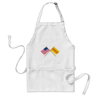 US and South Vietnam Crossed Flags Standard Apron