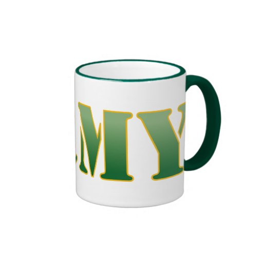 US Army - Green Text Coffee Mugs