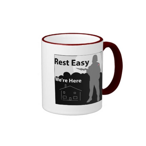 US Army - Rest Easy We're Here Coffee Mugs