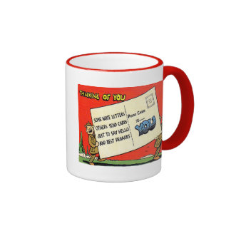 US Army Thinking of You Coffee Cup Ringer Coffee Mug